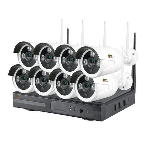 Комплект беспроводного видеонаблюдения Partizan  на 8 камеры 1Мп Outdoor Wireless Kit 1MP 8xIP v1.0 (82203)