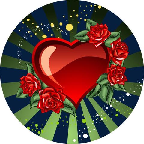 Печать на вафельной бумаге, День Влюбленных 26
