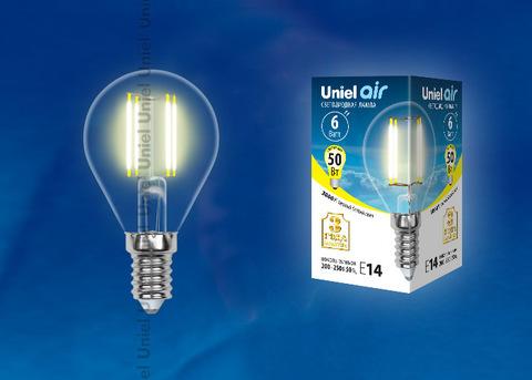 LED-G45-6W/WW/E14/CL GLA01TR Лампа светодиодная. Форма