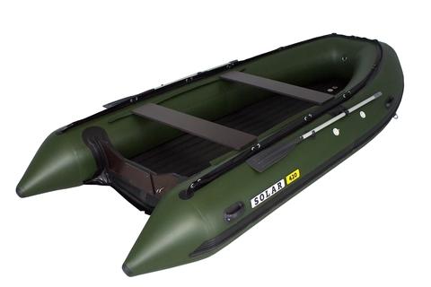 Надувная ПВХ-лодка Солар Максима - 420 К (зеленый)