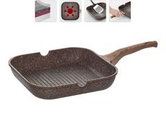 Сковорода-гриль с гранитным антипригарным покрытием Greta, 28х28 см NADOBA