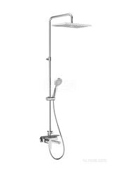 EVEN-M Square Душевая стойка с верхним душем и смесителем с изливом, регулируемая высота 5A9C90C00 фото