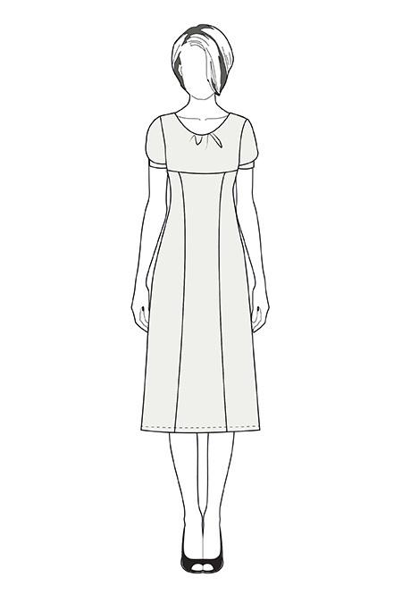 Выкройка платья с рукавом «фонарик» тех рисунок