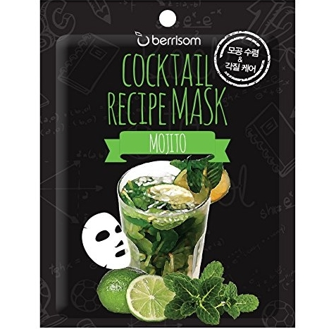 Тканевая маска очищающая BERRISOM Cocktail Recipe Mask Mojito