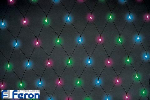 Гирлянда светодиодная «Сеть RGB», CL117 (Feron)