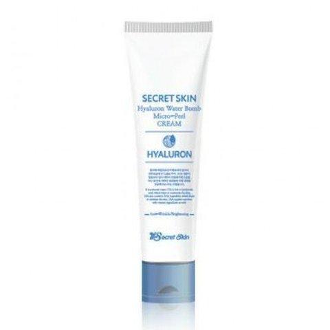 Крем для лица гиалуроновый с эффектом микро-пилинга Secret Skin Hyaluron Water Bomb Micro-Peel Cream