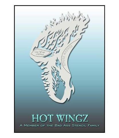 Трафарет Hot wings 8007