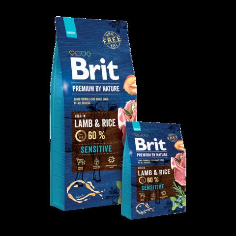 Brit Premium By Nature Sensitive Lamb & Rice Сухой корм для собак гипоаллергенный Ягненок и Рис