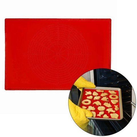 Коврик силиконовый с разлиновкой 49х39 см