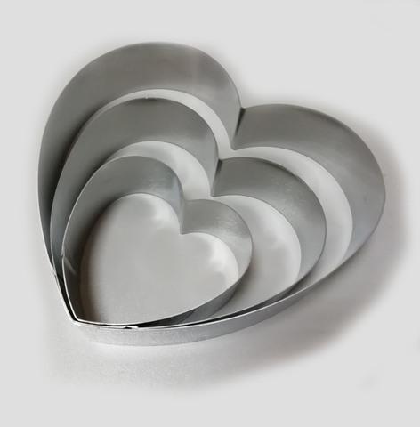 Набор форм для выкладки, выпекания Сердца , 3шт (D= 10/15/20 H4,5 см)