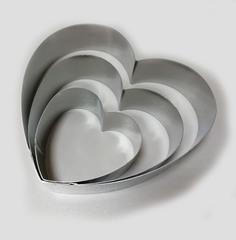 Набор форм для выкладки, выпекания Сердца , 3шт