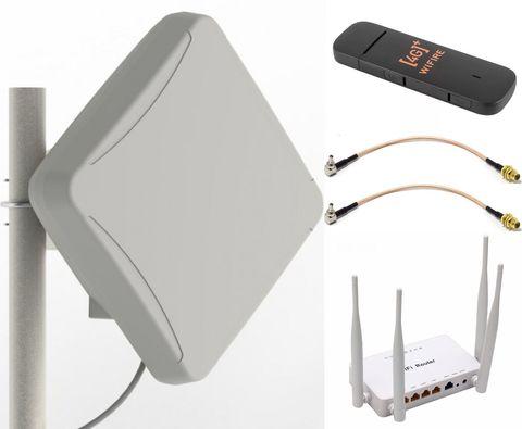3G/LTE Комплект Интернет комфорт с PETRA BB MIMO 2x2 UniBox и Wi-fi роутером