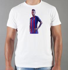 Футболка с принтом Неймар (Neymar) белая 001