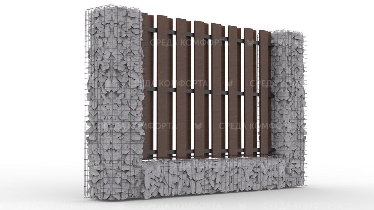 Деревянный забор ZBR0099