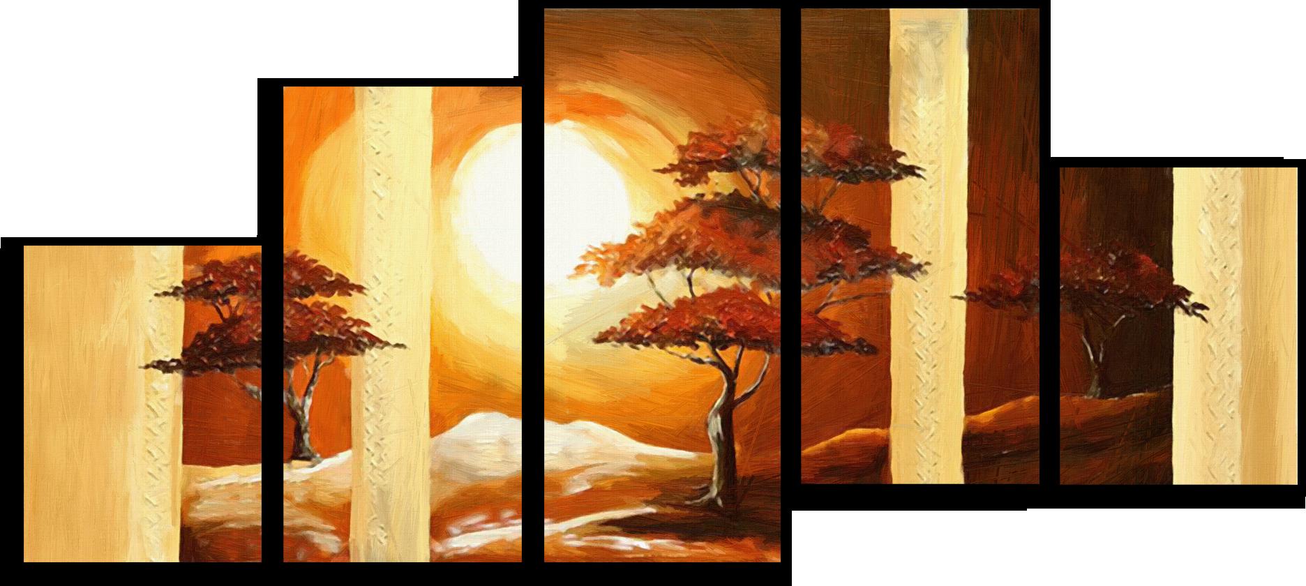 """Природа Модульная картина """"Полуденный зной"""" М479.png"""