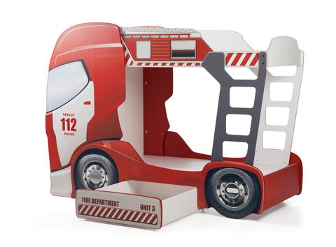 Двухэтажная детская кровать машина FireTruck