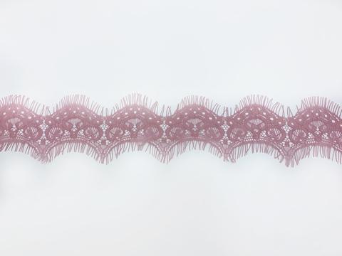 Кружево реснички пыльно-розовое (6*270 см)