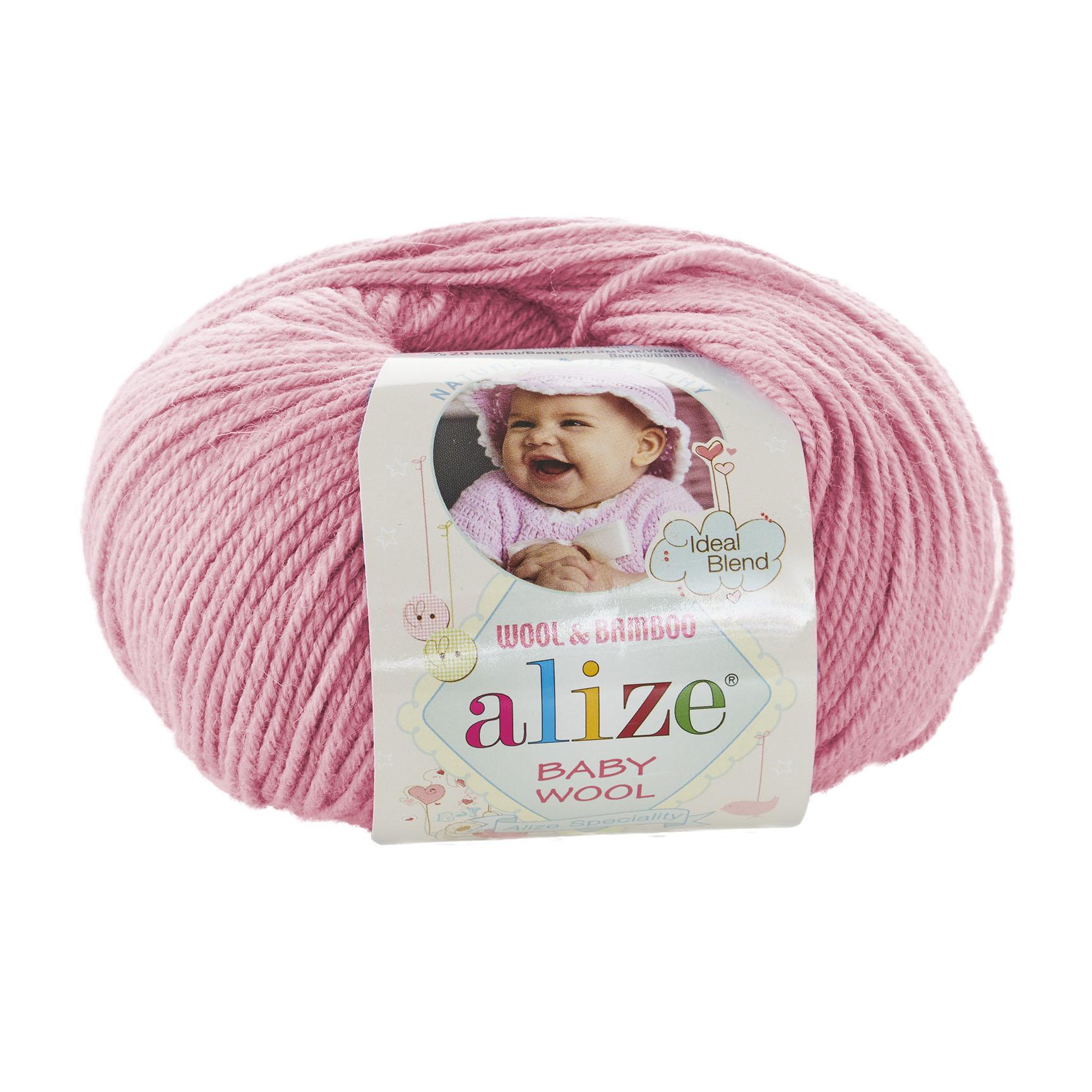 Пряжа Alize Baby Wool розовый 194