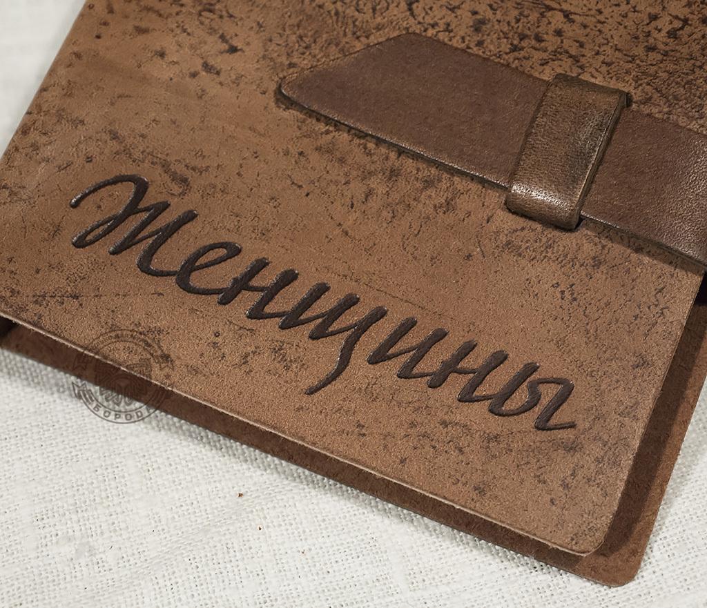 BY02-02-08 Вместительная визитница ручной работы (54 карт) фото 02