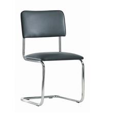 Конференц-стул Silwia на полозьях черный (искусственная кожа/металл хромированный)