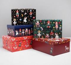 Набор подарочных коробок 5 в 1 «Щелкунчик», 32,5 х 20 х 12,5 - 22 х 14 х 8,5 см