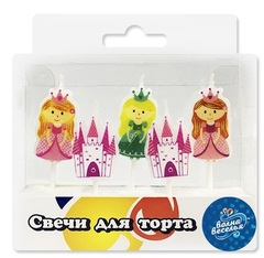 """Свечи в торт """"Замок и Принцессы"""" 5 шт"""