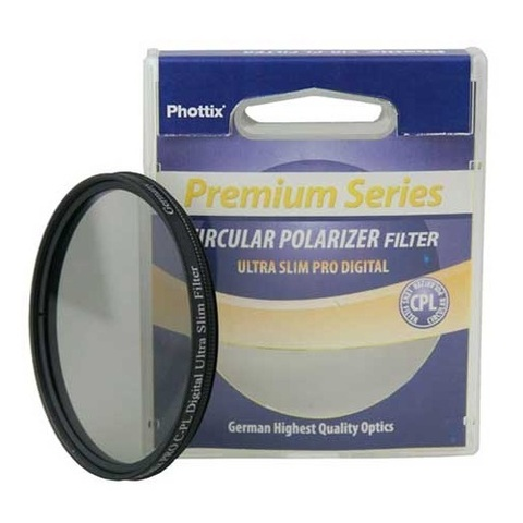 Поляризационный фильтр Phottix Pro C-PL Digital Ultra Slim Filter на 62mm