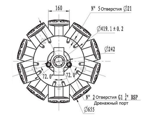 Гидромотор IMB 400-6500