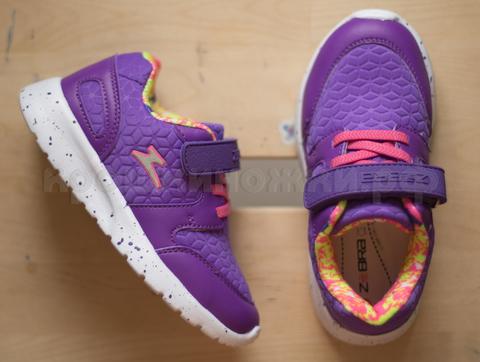Кроссовки фиолетовые Зебра