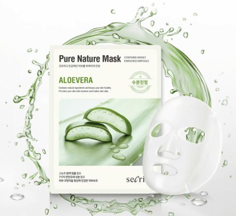 Anskin Маска для лица тканевая с алоэ Secriss Pure Nature Mask Pack, 1 шт