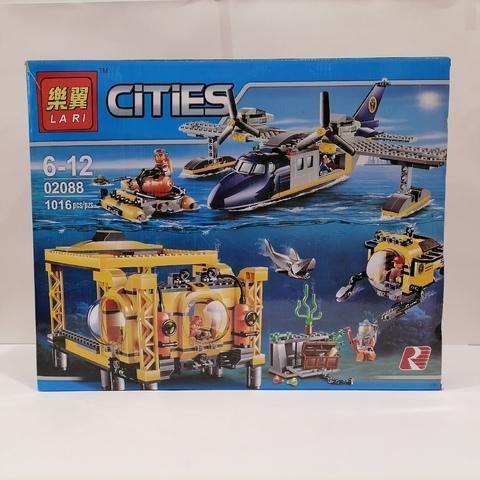 Сити 02088  Глубоководная Исследовательская База 1016 дет.Конструктор