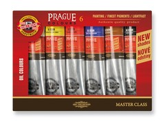 Краски масляные художественные PRAGUE в тюбиках, 6 цветов
