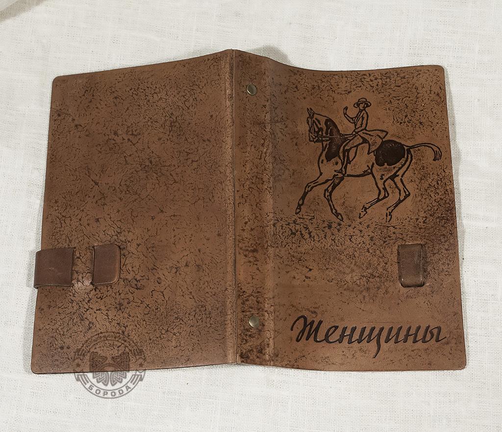 BY02-02-08 Вместительная визитница ручной работы (54 карт) фото 04
