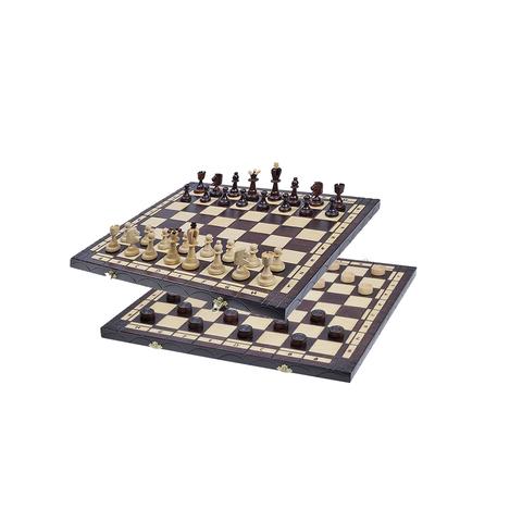 Игровой набор шахматы и шашки 2в1 165 пр-во Польша