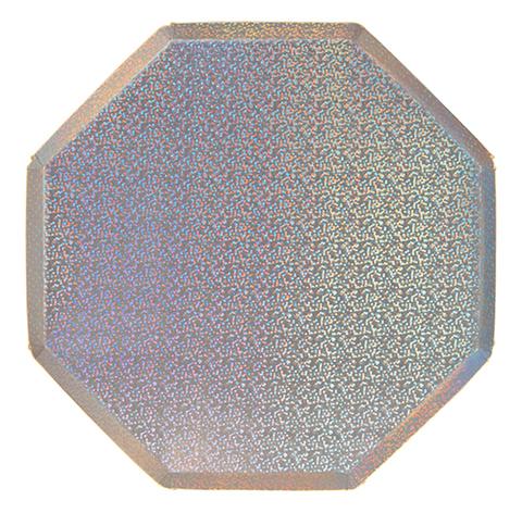 Тарелки сверкающие серебряные