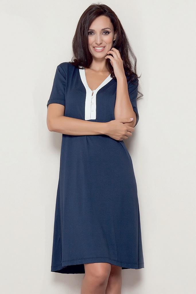 Синяя домашняя сорочка-платье B&B