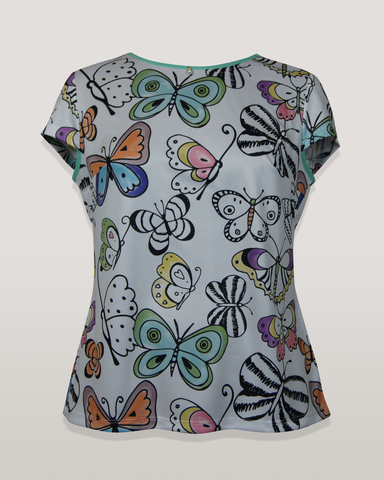 Блузка Laura Canorra 1964 бабочки  к/р