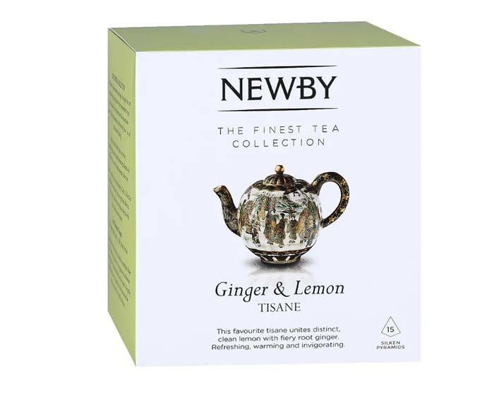 Чай травяной в пирамидках Newby Ginger & Lemon, 15 пак/уп