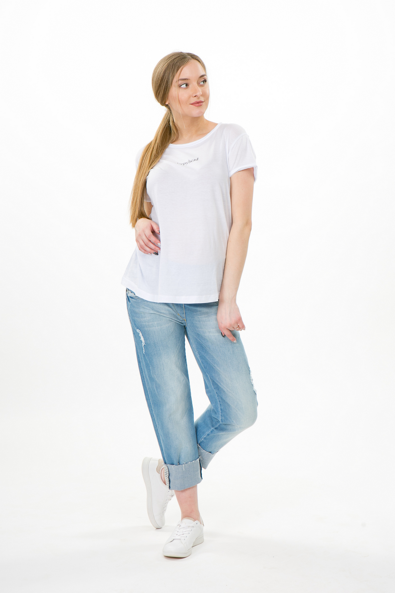Фото джинсы для беременных MAMA`S FANTASY, прямые, широкий бандаж от магазина СкороМама, синий, размеры.