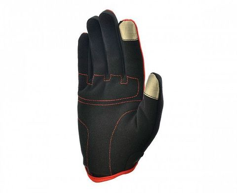 ADGB-12421RD Перчатки д/фитнеса (с пальцами) Adidas Essential черно\красные р.S