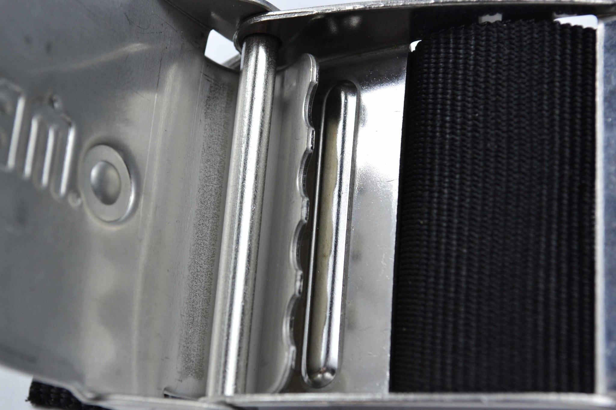 Пояс грузовой Omer из кордуры черный - пряжка из нержавеющей стали