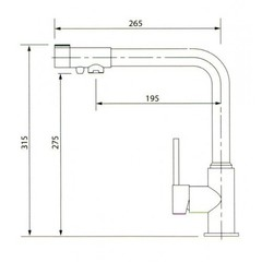 Смеситель KAISER Teka 13044-4 SandBeige для кухни под фильтр Песочный мрамор  схема