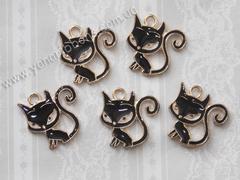Металлический декор Черная кошка