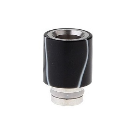 Drip-Tip Acrylic wrapped SS Hybrid чёрный