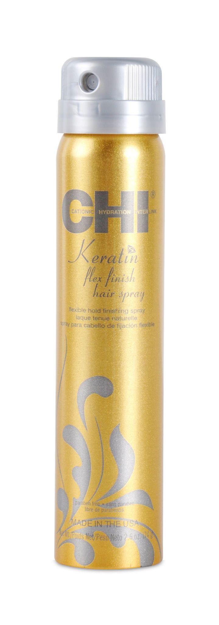 Лак для волос сильной фиксации с кератином / CHI Keratin Flexible Hold Hairspray 74г