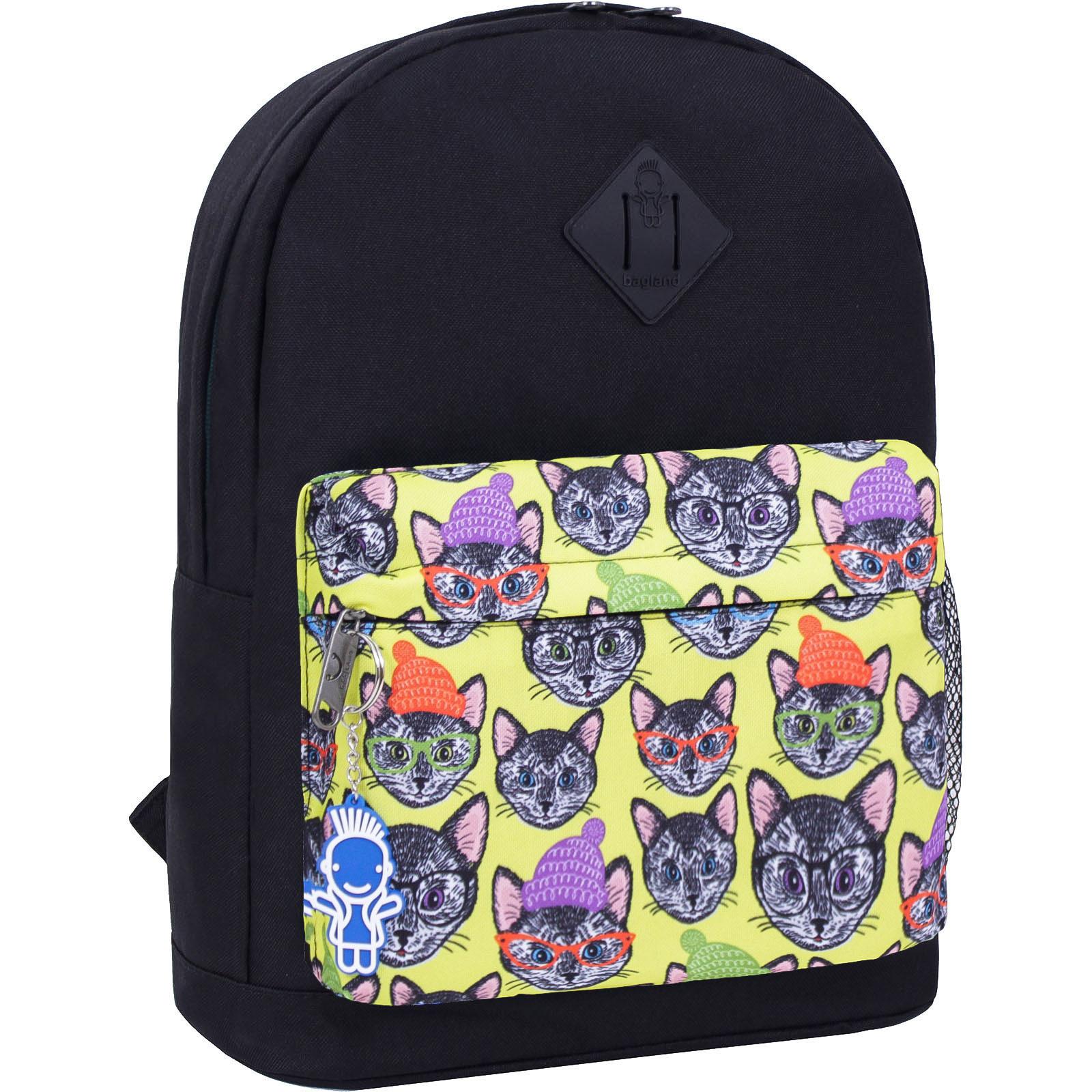 Городские рюкзаки Рюкзак Bagland Молодежный W/R 17 л. черный 469 (00533662) IMG_2492_469_-1600.jpg