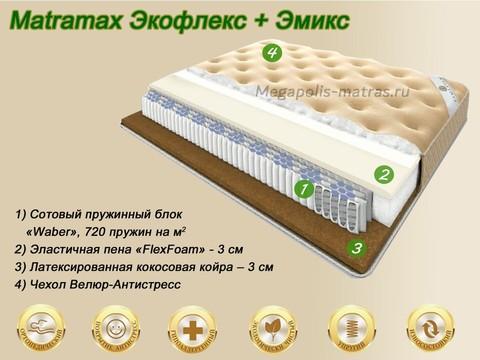 Матрас Matramax Экофлекс + Эмикс купить в Москве от Megapolis-matras.ru