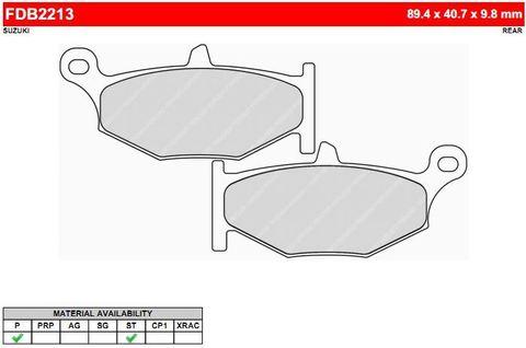 Тормозные колодки дисковые FERODO MOTO FDB2213ST