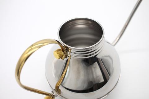 Чайник металлический с длинным носиком для пуровера и кемекса, 900мл.