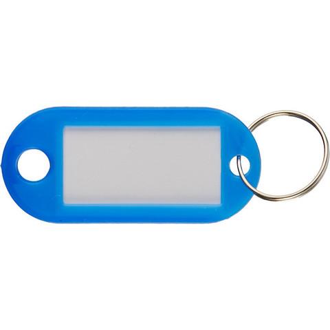 Бирки для ключей пластиковые синие (10 штук в упаковке)